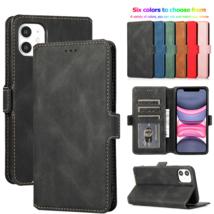 k69) Leather wallet FLIP MAGNETIC BACK cover Case for Apple iPhone models - $49.05