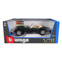 1961 Jaguar E Type Convertible Green 1/18 Diecast Model Car by Bburago 1... - $57.81