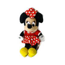 Disneyland Disney World Minnie Mouse 11 inch Stuffed Plush Toy Girl Polk... - $9.89
