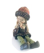 "Hobby Lobby Acorn Girl Shelf Sitter Figure 5"" Tall Moveable Legs - $8.54"