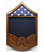 AIR FORCE MASTER SERGEANT MSGT MILITARY WOOD SHADOW BOX MEDAL DISPLAY CASE - $379.99