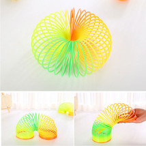 Slinky Cute Colorful Rainbow Plastic Magic Spring Children's Toy Educati... - $8.86