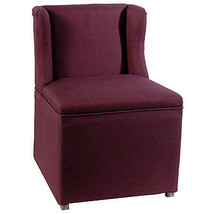 "Upholstered Chair w/ Febric Cover 23""x23""x33"" - 35575PURP - £209.89 GBP"