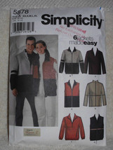 Simplicity Pattern 5878 Designs by Karen Z Men Women Teens Unisex Sewing... - $12.00