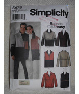 Simplicity Pattern 5878 Designs by Karen Z Men Women Teens Unisex Sewing... - $12.00