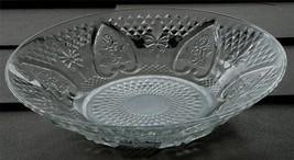 Nice Pressed Glass Bowl, Pretty Heart Pattern, VG COND - $14.84