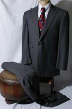 Hickey Freeman Men's Gray Indigo Plaid Suit Tckt Pckt Size 42R W32 - $178.16
