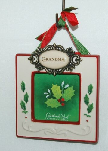 Grasslands Road 455179 Grandma Christmas Picture Frame Colors Red and White