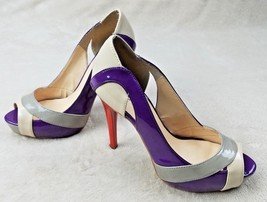 Guess Womens Open Toe Heels Multi Color Patent Leather Stilleto Size 8.5 - €14,38 EUR