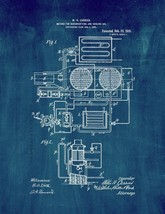 Method For Dehumidifying And Cooling Air Patent Print - Midnight Blue - $7.95+