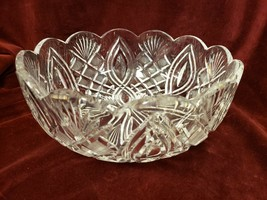 Waterford Crystal Scalloped Edge Round Bowl Artisan Collection Craftsman... - $123.74