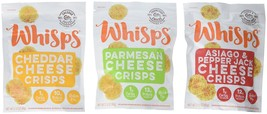 Whisps Cheese Crisps 3 Pack Assortment (2.12oz) Cheddar, Parmesan & - $17.10