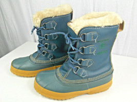 Vintage Blue Sorel Kaufman Manitou Insulated Pac Boots Women's 6, Made i... - $39.59