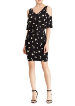 NWT AMERICAN LIVING BLACK FLORAL CAREER SHEATH DRESS SIZE 14 SIZE 16 $79 - $24.22+
