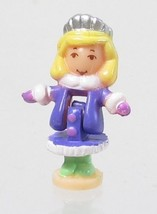 1995 Vintage Lot Polly Pocket Doll Sparkle Snowland - Polly Bluebird Toys - $7.50