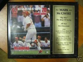 Collectable MARK  McGWIRE   70 Home Runs Wood Plaque...SALE--FREE POSTAG... - $18.81