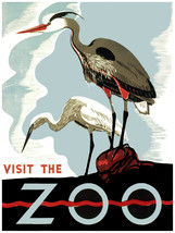 621.Vissit the Zoo Wall Art Decoration POSTER.Graphics to decorate home ... - $10.89+