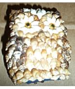 Owl Figurine Made Of Sea Shells - $4.95