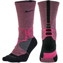 NIKE Hyper Elite Crossover Basketball Crew Socks sz XL X-Large (12-15) Pink - $23.99