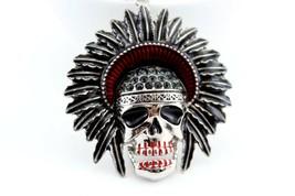 Indian Skeleton Skull Head Fashion Keychain Crystal Charm #MCK11 - $18.17