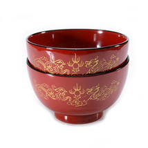 Natural wood Hand-Made Chinese Style Round Salad Bowl Snack Bowl Lunch B... - $15.26