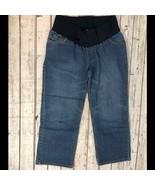 Liz Lange Maternity Cropped Capri Jeans - Size 4 - $14.54