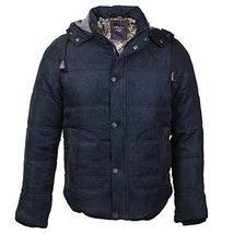 Maximos Men's Multi Pocket Modern Floral Cotton Hooded Jacket (Large, Black)