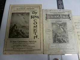 Christmas Festal Programs(x3), 1900/01, John Hood Philadelphia. Illustra... - $28.92