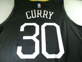 "STEPHEN CURRY / AUTOGRAPHED G.S. WARRIORS ""THE TOWN"" BLACK NBA JERSEY / BECKETT image 4"