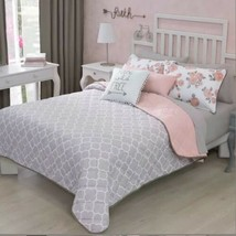 NEW PRETTY COLLECTION FREE GIRLS REVERSIBLE COMFORTER,SHEET AND WINDOW P... - $198.00