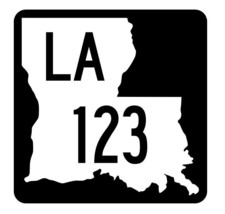 Louisiana State Highway 123 Sticker Decal R5839 Highway Route Sign - $1.45+