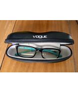Vogue VO5081 2435 Plastic Black & Teal Clear Eyeglasses slight RX w/ zip... - $39.99