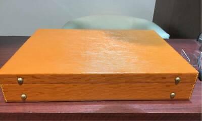 LOUIS VUITTON President Attache Briefcase Brown Epi Hard Trunk Case Auth Unused