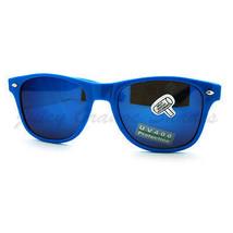 Classic Square Horn Rim Sunglasses Bright Multicolor Mirror Lens - $6.95