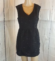Forever 21 Women's Dress Black Sequins Size Medium Short Zipper - $11.56
