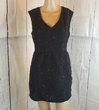Forever 21 Women's Dress Black Sequins Size Medium Short Zipper - $11.56