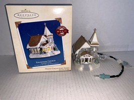 Hallmark Keepsake Ornament Fieldstone Church Magic Light 2003 - $15.00