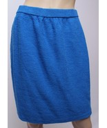 St. John Collection Marie Gray Blue Wool Santana Knit Pencil SKirt 8 - $94.99