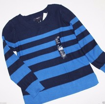 Gap Kids NWT Boy's XS 4 5 100% Cotton Navy Blue & Blue Striped Sweater - $30.77