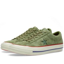 Converse x Undefeated Mens One Star 74 Ox Suede 158894C Olive/Egret Sz 1... - $124.99