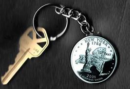 State of NEW YORK Quarter Keychain Key Chain - $5.88