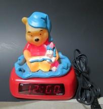 Disney Winnie The Pooh And Piglet Night Light Alarm Digital Clock Fantasma - $16.95