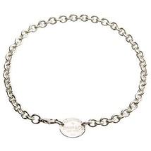 """Tiffany & Co.argento sterling """" RITORNO A """" OVALE TARGHETTA COLLANA 40cm L - $311.86"""