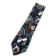 Men's Vintage Italian 100% Silk Necktie Tie Blue Red White Abstract Art ... - $39.99