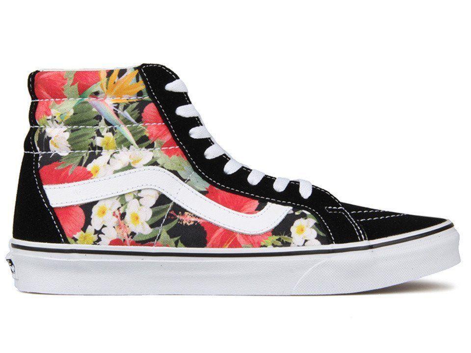 fcc04c171ee83b Vans Sk8-Hi Reissue Mens Digi Aloha Black True White Skate shoes Size 10 NWT