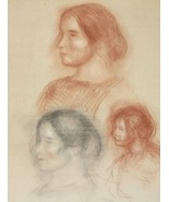 Studies of Head (Gabrielle) - 24x32 inch Canvas Wall Art Home Decor - $51.99