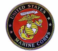 "Wholesale Lot 6 U.S. Marines Marine EGA 12"" Reflective Decal Bumper Sticker - $14.88"