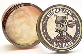 Premium Shaving Soap for Men By Sir Hare - Barbershop Fragrance - Shave Soap Tha image 3