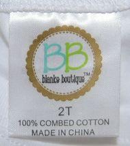 Blanks Boutique Boys White Long Sleeve Cotton Shirt Size 2T image 3