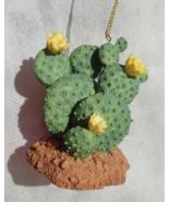 "Mini Prickly Pear Blooming Cactus 2.5"" Resin Christmas Ornament or displ... - $9.50"
